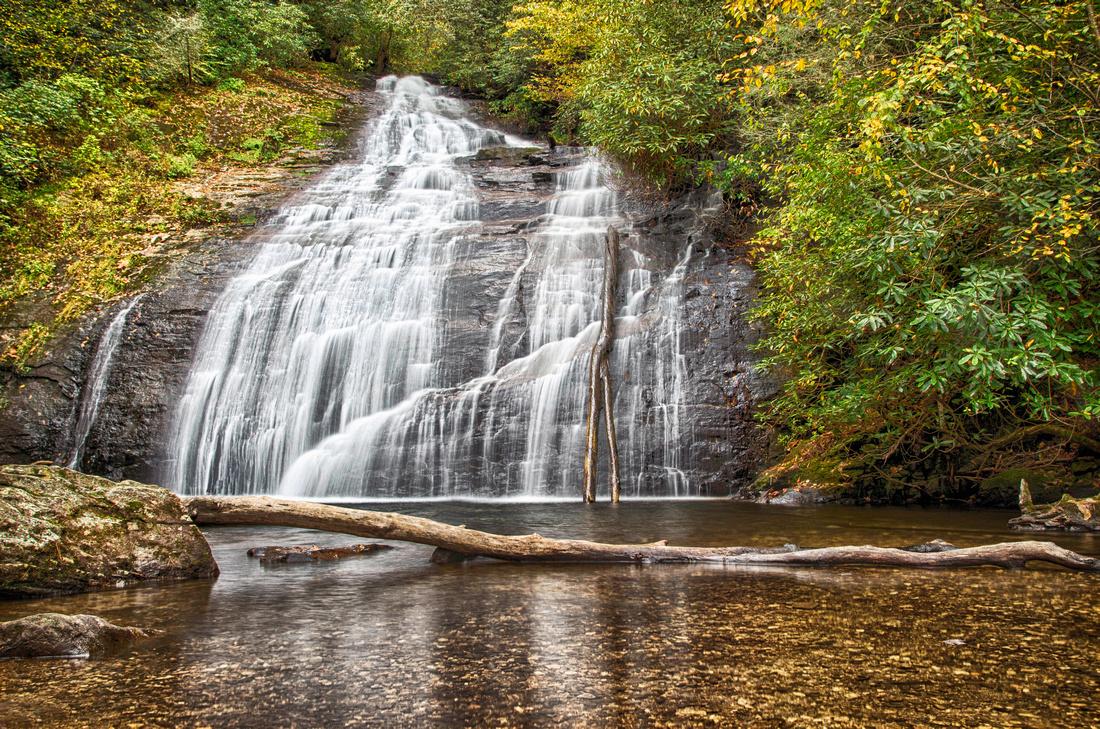 Helton Creek Falls in Blairsville, Georgia