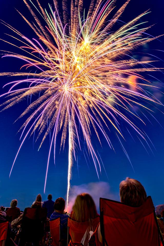 2014 Fireworks show at the Blue Ridge Boat Marina